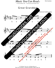 "Click to Enlarge: ""Great Grandad"" Pitch Number Format"