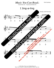 "Click to Enlarge: ""I Jing-a-ling"" Pitch Number Format"