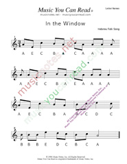 "Click to Enlarge: ""In the Window"" Letter Names Format"