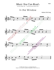 """In the Window"" Music Format"