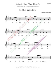 "Click to Enlarge: ""In the Window"" Rhythm Format"
