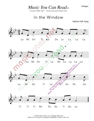 "Click to Enlarge: ""In the Window"" Solfeggio Format"