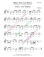 "Click to Enlarge: ""John the Rabbit"" Letter Names Format"