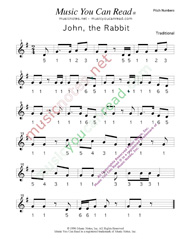 "Click to Enlarge: ""John the Rabbit"" Pitch Number Format"