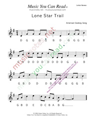 "Click to Enlarge: ""Lone Star Trail"" Letter Names Format"
