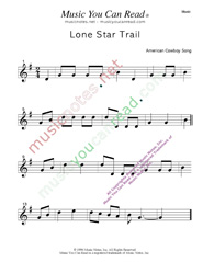 """Lone Star Trail"" Music Format"
