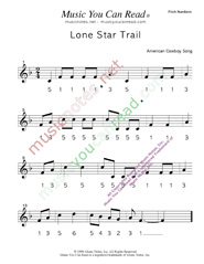 "Click to Enlarge: ""Lone Star Trail"" Pitch Number Format"