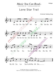 "Click to Enlarge: ""Lone Star Trail"" Solfeggio Format"