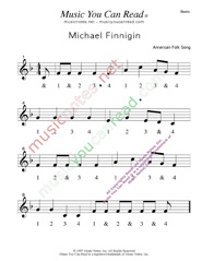 "Click to enlarge: ""Michael Finnigan"" Beats Format"
