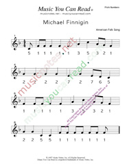 "Click to Enlarge: ""Michael Finnigan"" Pitch Number Format"