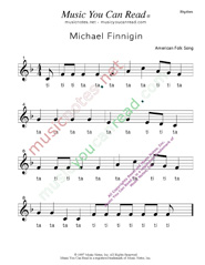 "Click to Enlarge: ""Michael Finnigan"" Rhythm Format"