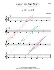 """Old Round"" Music Format"