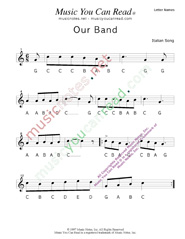 "Click to Enlarge: ""Our Band"" Letter Names Format"