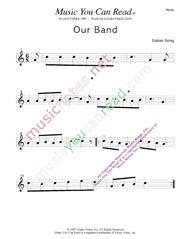"""Our Band"" Music Format"