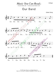 "Click to Enlarge: ""Our Band"" Solfeggio Format"