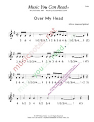 "Click to enlarge: ""Over My Haed"" Beats Format"
