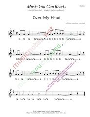 "Click to Enlarge: ""Over My Haed"" Rhythm Format"