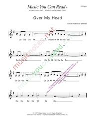 "Click to Enlarge: ""Over My Haed"" Solfeggio Format"