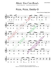 "Click to Enlarge: ""Pizza, Pizza, Daddy-O"" Letter Names Format"