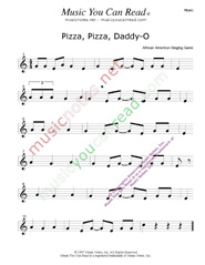 """Pizza, Pizza, Daddy-O"" Music Format"