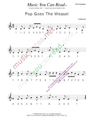"Click to Enlarge: ""Pop Goes the Weasel"" Pitch Number Format"