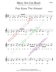 "Click to Enlarge: ""Pop Goes the Weasel"" Rhythm Format"