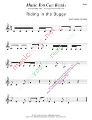 """Ridding in the Buggy"" Music Format"