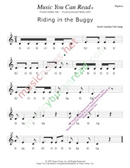 "Click to Enlarge: ""Ridding in the Buggy"" Rhythm Format"