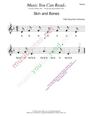 "Click to Enlarge: ""Skin and Bones"" Rhythm Format"