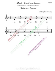 "Click to Enlarge: ""Skin and Bones"" Solfeggio Format"