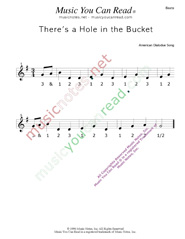 "Click to enlarge: ""There's a Hole in the Bucket"" Beats Format"