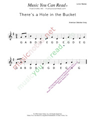 "Click to Enlarge: ""There's a Hole in the Bucket"" Letter Names Format"