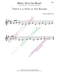"""There's a Hole in the Bucket"" Music Format"