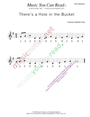 "Click to Enlarge: ""There's a Hole in the Bucket"" Pitch Number Format"
