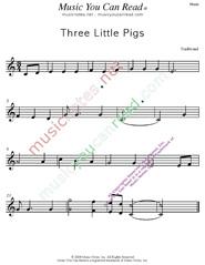 """Three Little Pigs"" Music Format"