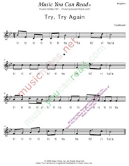 "Click to Enlarge: ""Try, Try Again"" Rhythm Format"