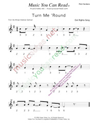 "Click to Enlarge: ""Turn Me 'Round"" Pitch Number Format"