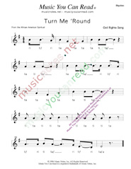 "Click to Enlarge: ""Turn Me 'Round"" Rhythm Format"