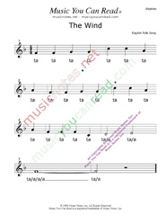"Click to Enlarge: ""The Wind"" Rhythm Format"