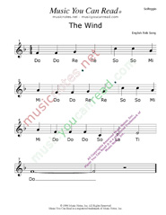 "Click to Enlarge: ""The Wind"" Solfeggio Format"