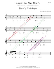 "Click to enlarge: ""Zion's Children"" Beats Format"