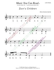"Click to Enlarge: ""Zion's Children"" Letter Names Format"