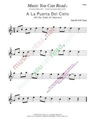 """""""A La Puerta Del Cielo"""" Music Format"""