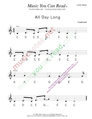 "Click to Enlarge: ""All Day Long"" Letter Names Format"