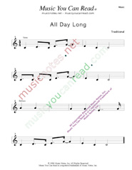 """All Day Long"" Music Format"