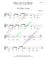 "Click to Enlarge: ""All Day Long"" Rhythm Format"