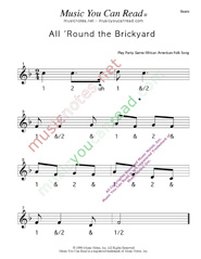 "Click to enlarge: ""All 'Round the Brickyard"" Beats Format"
