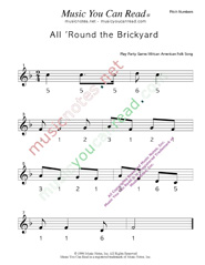 "Click to Enlarge: ""All 'Round the Brickyard"" Pitch Number Format"