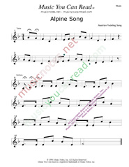"""Alpine Song"" Music Format"