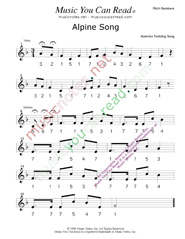 "Click to Enlarge: ""Alpine Song"" Pitch Number Format"